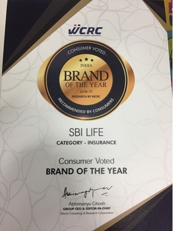 SBI Life Brand of the Year 2016-17